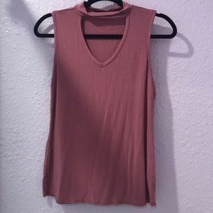 Mauve tank top with cutout!